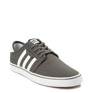 Mens adidas Seeley Skate Shoe GRAY White New