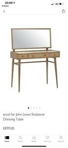 Ercol For John Lewis Shalstone Dressing Table RRP£899