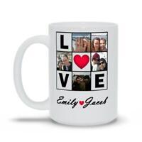 Custom Photo Collage Love Gift Coffee Mug Great Gift For Valentines Day Mug