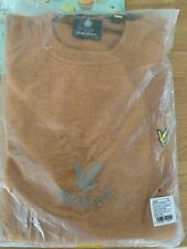 Mens Lyle and Scott jumper XXL Lambswool. BNWT.  Gold Marl.