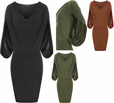 Knee-Length Stretch, Bodycon Casual Solid Dresses for Women