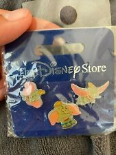Vintage Disney Japan Dumbo Set of 3 Enamel Pin Collection Rare