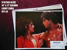 "RARE VINTAGE 14""x11"" UK LOBBY CARD STILL SET x7 - STAYING ALIVE - JOHN TRAVOLTA"
