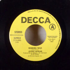 George Morgan Running Wild / Let's Live Together Marianne 17.8cm 45 Decca M