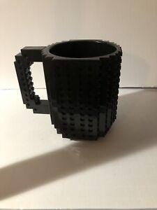 'LEGO´ Brick MUG BUILDING Blocks COFFE CUP Block Puzzle Mug  Black
