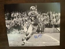 Del Shofner Signed 8 X 10 Photo Football Autographed Smeared