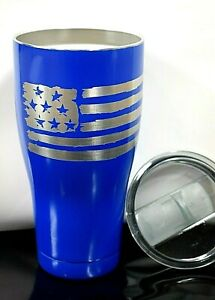 Z1 30 oz NEW STAINLESS STEEL TUMBLER VACUUM INSULATED DISTRESSED FLAG FREE SHIP