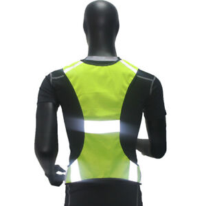 Safety Cycling Running Jogging Vest Reflective High Visibility Harnss Jacket
