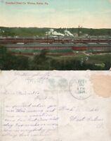 BUTLER PA STANDARD STEEL CO. WORKS 1909 ANTIQUE POSTCARD