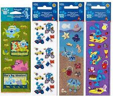 4 NEW packs Sandylion BLUE'S CLUES Picnic Beach Safari Scrapbook Stickers!