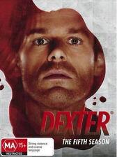 DEXTER (COMPLETE SEASON 5 - DVD SET SEALED + FREE POST)
