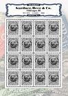 US Match & Medicine - Gardner, Beer & Co. - RO86 - REPRODUCTION - Souvenir Sheet