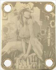 CUELLO PLACA Cow Girl Pin-up - oro para guitarra y bajo