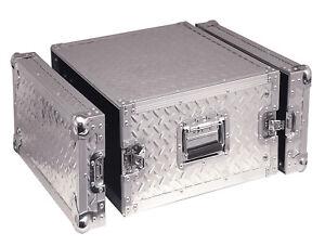 Soundlab Rack Flight Case 8U, SP8UR Aluminium 8U Rack Case, Rack Unit