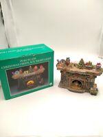 Vintage Christmas Fireplace Mantle Light Up Porcelain Hearth Electrical