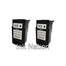 2x PG512 Black High Capacity Ink Cartridges For Canon PIXMA MP272 Printer