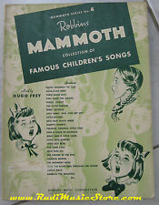 spartito ROBBINS MAMMOTH collection of famous children's songs NO cd lp mc vhs