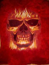 Skulbone-Scullbone-Skull Scull Bone Fire Biker Goth Gothic Tye Tie Dye T Shirt-L