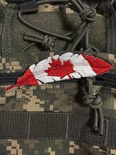 FEATHER CANADA LEAF flag Morale Patch Proud Quill Eagle Spirit Gods Tactical 210