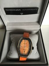 Montres De Luxe Watch Estremo Ladys Steel orange Dial Date EXL A 8304 new