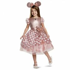 Disguise Disney Minnie Mouse Rose Gold Deluxe Childrens Halloween Costume 15701
