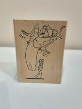 Art Impressions Grandma Jumping In The Air Rubber Stamp