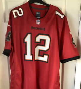 Brand New Without Tags NFL Nike Tampa Bay Buccaneers Jersey Red Brady 12 Medium