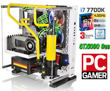 Gamer PC Computer Intel i7 7700K-16GB PC2400-8GB GTX1080 -SSD -liquido 4K