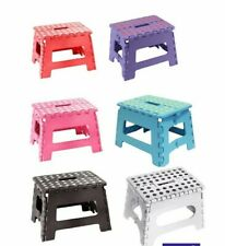 Plastic Multi Purpose Folding Step Stool Home Kitchen Foldable Carry Storage