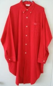 """Vintage RED """"DEVIL"""" Mens Flannel NightShirt Size D-EXTRA LARGE by Diplomat"""