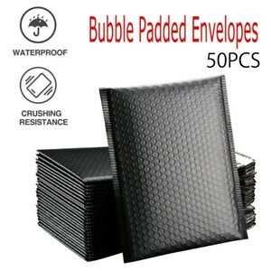 50Pcs Black Bubble Self Seal Mailer Padded Envelopes Bags Lined Poly Mailer Bag