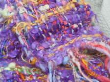 Scarf Wool Artist Loom Woven Organic Textural Wool Handmade Unique Reduced