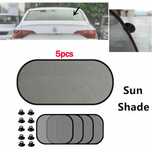 Summer Car Sunshade Visor Block Sunscreen Window Mesh Cover Sunshield 5PCS/Set