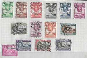 GOLD COAST 1938-1943 Used Complete Set of 13 Stamps Michel #120-132