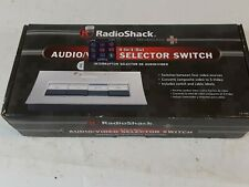 Genuine Radio Shack ~ 4-in/1-Out Audio/Video Selector Switch ~ Vintage Nib