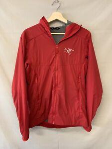 Arcteryx Ryze Hooded Men's Small Red Running Zip Up Jacket