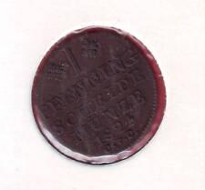 R* BRUNSWICK WOLFENBUTTEL 1 PFENNING 1824 CvC aUNC DETAILS SCARCE