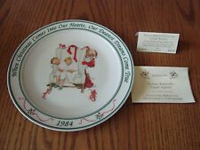 Hallmark Norman Rockwell Christmas 1984 CAUGHT NAPPING Collector's Plate 8 1/4""