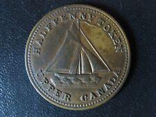UC-13 Halfpenny token 1833 Upper Canada brass Commercial Change Breton 731