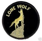 """CAFÉ RACER ROCKERS FOREVER HOG BIKER STURGIS RALLY iron-on LONE WOLF 3"""" PATCH"""