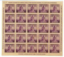 Century of Progress 3¢ Cent US Scott 731 Stamp Sheet 1833 1933 Chicago - LE628