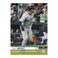 Gary Sanchez 2019 Topps NOW 254 New York Yankees 3 HR IN 9TH CAPS BIG COMEBACK