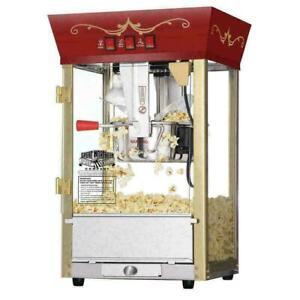 Great Northern Popcorn Red Matinee Movie Theater Style 8 oz. Popcorn Machine