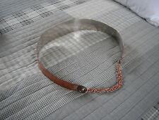 Mid-Century Vintage 50's 60's Signed Renoir Smooth Wide Copper Metal Belt