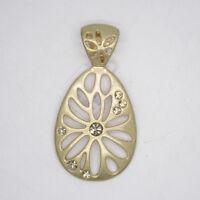lia sophia women jewelry openwork flower matte gold tone necklace pendant slide