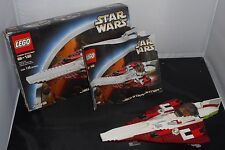 EXCELLENT COMPLETE STAR WARS JEDI STARFIGHTER LEGO 7143 W/ORGNL BX-INSTN & FGRNS