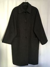 Vintage Calvin Klein Woman Dark Gray Winter Coat 6 M L ? Workers Union USA