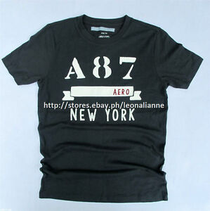 75% OFF! AUTH AEROPOSTALE MEN'S A87 BANNER LOGO GRAPHIC TEE SMALL BNEW US$24.50