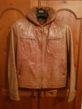 Genuine Leather brown jacket fully lined womens 10 - 12