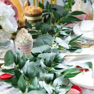 Greenery Eucalyptus Leaves Silk Artificial Vines Garland for Wedding Decor